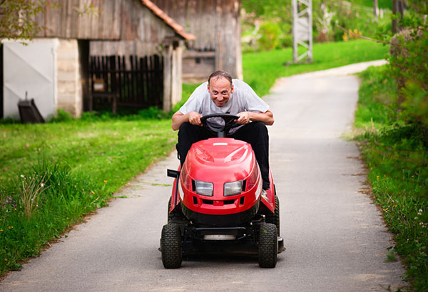 Take it Easy on the Beers While Riding a Lawn Mower